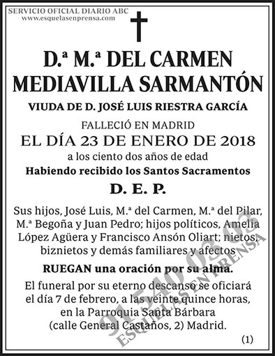 M.ª del Carmen Mediavilla Sarmantón